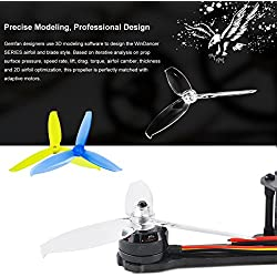 Crazepony-UK 12pcs Gemfan 5042 Helices Propellers 3-Blade Prop Windancer Series 5 x 4.2 Inch 5mm Mounting Hole for 190- 220mm FPV Frame 2204-2036 Blushless Motor Racing Drone Quad Props by