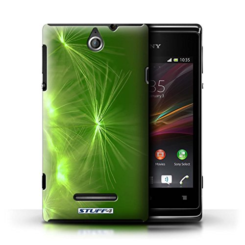 Kobalt® Imprimé Etui / Coque pour Sony Xperia E / Rouge conception / Série Allumez la vie Vert