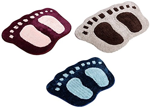 Yazlyn Microfiber Door mat (Set of 3) - 16 inch x 24 inch, Multicolor …