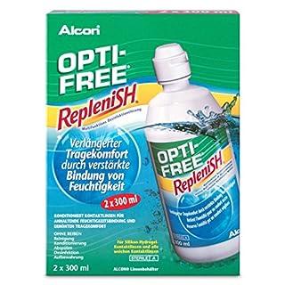 Opti-Free Replenish, Kontaktlinsen-Pflegemittel, Vorratspackung 2 x 300 ml