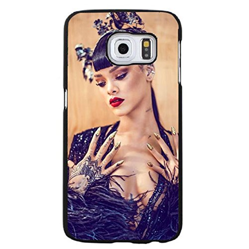 Case Shell Fashion Charming Dressed Sexy Star Rihanna Phone Case Cover for Coque Samsung Galaxy S6 Edge Plus Rihanna Vogue,Cas De Téléphone