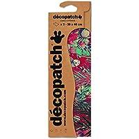 Clairefontaine C590O Decopatch–Papel Decorativo para decoupage, Pack de 3 Unidades, Modelo Oriental con Rosas, Colores marrón y Rosa, Color Rot Pfingsrose Format : 395 x 298 mm