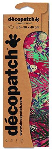 Decopatch Papier No. 754 (rot Pfingsrose, 395 x 298 mm) 3er Pack