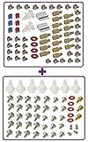 VisionFox Tec (1x) 66 teiliges Computer Schrauben Set, PC Einbau Schrauben für alle PC Gehäuse + (1x) 54 teiliges Computer Schrauben Set, PC Einbau Schrauben für alle PC Gehäuse
