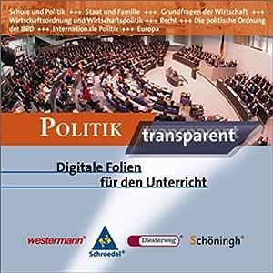 Politik transparent, 1 CD-ROM Digitale Folien für den Unterricht. Für Windows 98/ME/2000/XP
