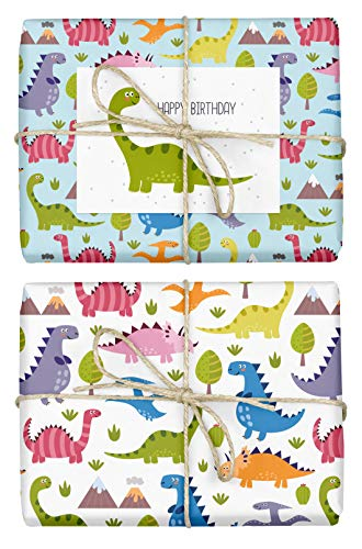 nosaurier für Kinder: doppelseitige Bögen DIN A2 (Öko, Recycling-Papier) + 1x Postkarte | Für Jungen und Mädchen | Made in Germany ()