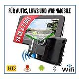 Elebest 17,8cm 7 Zoll Navigationsgerät,Navigation,Für Wohnmobil,LKW,PKW, 24GB...