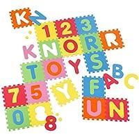 Knorrtoys 21004–Tapis puzzle 86pièces–Tapis de jeu tapis de jeu pour enfants Tapis de jeu en mousse Tapis Tapis multicolore