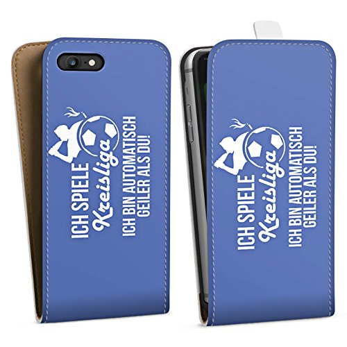 Apple iPhone X Silikon Hülle Case Schutzhülle Fußball Kreisliga Bier Downflip Tasche weiß