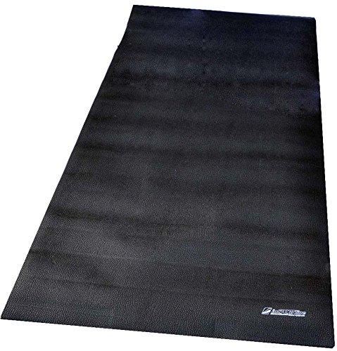Insportline Bodenschutzmatte 181 x 92 x 0,6 cm schwarz - Schutzmatte, Unterlegmatte für Fitnessgeräte, Crosstrainer, Rudergeräte, Ergometer