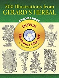 200 Illustrations from Gerard's Herbal CD-ROM and Book (Dover Electronic Clip Art) by John Gerard (2005-05-06)