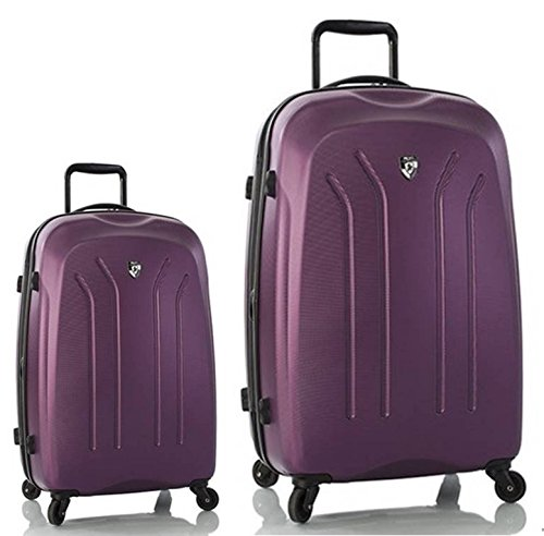 Sets de Bagages, valises - Première Classe Valise Rigide Set 2 pièces - Heys Crown Lightweight Pro Violet Trolley avec 4 Roues Mèdias + Trolley avec 4 Roues Grand