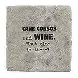 Cane Corsos e vino cosa c' è? Sottobicchiere–mattonelle di marmo drink