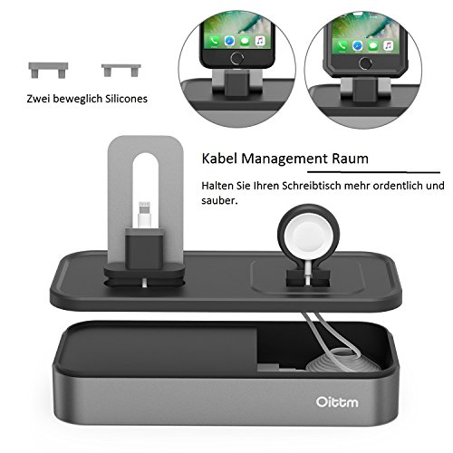 apple watch ladestation oittm 5 usb ports charge. Black Bedroom Furniture Sets. Home Design Ideas
