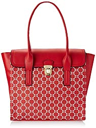 Lavie Warblers Women's Tote Bag Handbag (Red)