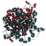 Fenteer 80 Stück Schleifscheibe 25 mm Polierscheibe Set Schleifzubehör für Drehwerkzeug, 4 Farben