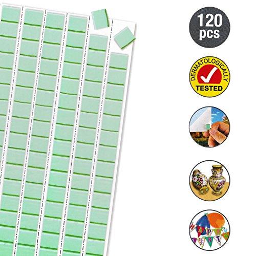 abnehmbare Putty Klebstoff Pads, Montage Poster Tacky Putty, Wand Sicher Sticky Tack, Party Dekoration Selbstklebend 120Stück ()