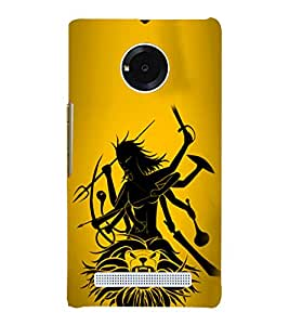 PrintVisa Jai Maa Bhawani 3D Hard Polycarbonate Designer Back Case Cover for YU Yunique