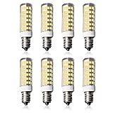 8er Pack Lampaous SES E14 LED Lampe 7W 500LM Kaltweiß 6000K 360 ° Maiskolben Birne 230V fuer Nähmaschinenlampe/Wandlampe/Tischleuchte/Kronleuchter