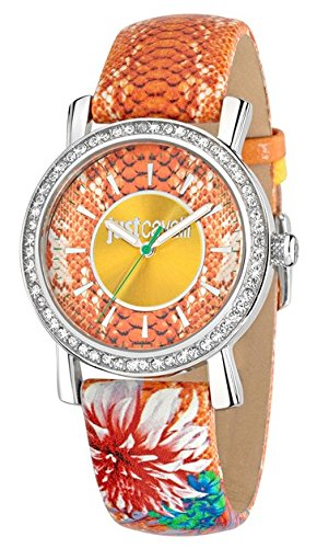 Just Cavalli Women's Quartz Watch with Multicolour Dial Analogue Display and Multicolour Leather Bracelet R7251601504