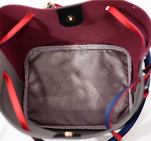 HQYSS Damen-handtaschen Große Kapazitäts-PU-lederne Troddeln verziert Schulter-Handtaschen-Multifunktionsklassische justierbare Wannen-Beutel-Einkaufstasche A