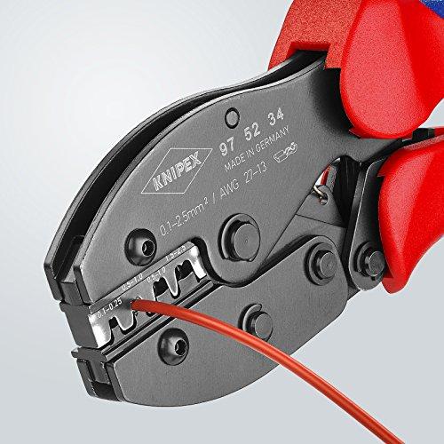 Knipex 97 52 34 PreciForce – crimpt unisolierte, offene Steckverbinder