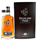 Rareté: Highland Park Single Malt Scotch Whisky 40 ans - 0.7l incl. boite en bois