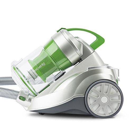 H.Koenig AXO940 beutelloser Staubsauger / 2 Liter Kapazität/HEPA Filter/EEK A/weiß/grün