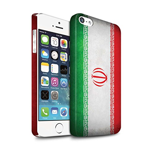 Clipser Matte Coque de Stuff4 / Coque pour Apple iPhone 5/5S / Chili/Chiliean Design / Drapeau Collection Iran