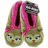 Animal Co-Zees Super Soft 3D Slippers, Ladies 4-6, Panda, Cat, Owl, Cow, Pig or Bunny Rabbit Designs
