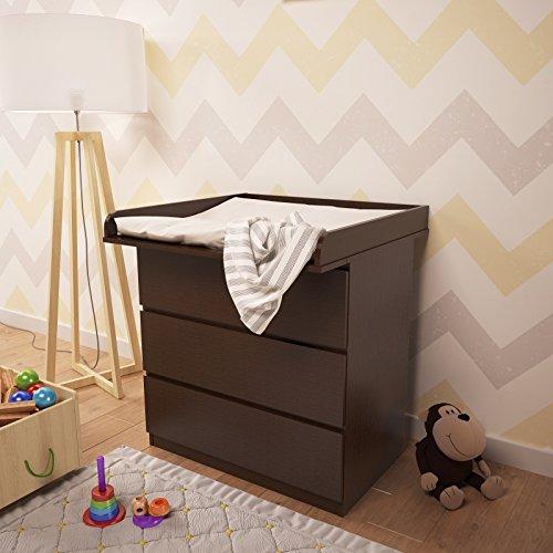 101123742, Polini Kids Wickelaufsatz für Kommode MALM IKEA Wenge, 1353.4
