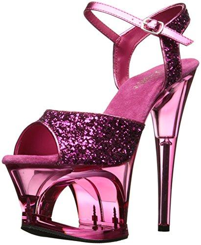 Pleaser MOON-710GT H. Pink Glitter/Pink Tinted UK 3 (EU 36) -
