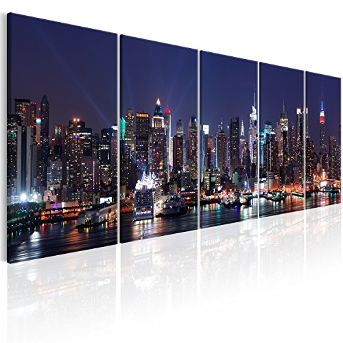 murando - Acrylglasbild New York 200x80 cm - Glasbilder - Wandbilder XXL - Wandbild - Bilder - Skyline New York NY Stadt City d-B-0185-k-n