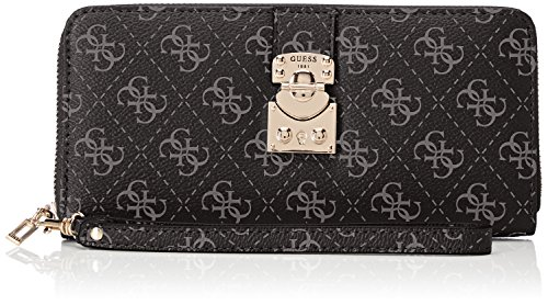 Guess Damen Slg Wallet Geldbörse, Grau (Coal), 2x10x20 centimeters (Wallet Zip-around Damen Zehn)