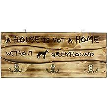 Galgo, Una clavija de pared de madera, percha con la imagen de un perro