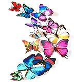 Nvfshreu Adesivo Murale Carta da Parati Farfalla 3D Adesivo Colla Autoadesivo Stile Semplice Nastro Adesivo Decorativo Parete del Taccuino Piastrella di Ceramica Fai da Te Finestra Rimovibile