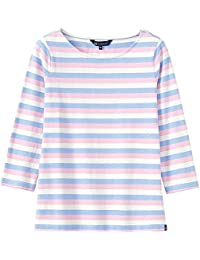 9759cc3a262b Crew Clothing Ultimate Breton Ladies Top UK8 White/Serene Blue/Classic Pink