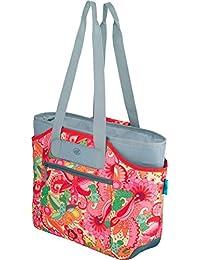 Alfi 0007.801.812 isoBag M 2 teilig 23 l Kühltasche und Shopper Polyester Flowers 57 x 38 x 50 cm