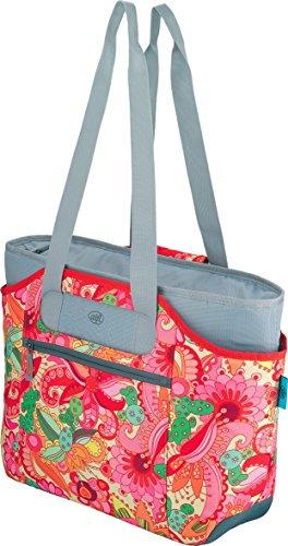Flower Shopper (alfi isoBag Kühltasche & Shopper, Polyester, Flowers, 23 Liter)