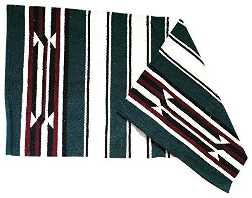 JF-Reitsport Satteldecke Navajo Decke Delgado, grün, One Size, 270041-0003