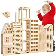 Michi type enjoy your life Good quality 100 PCS/Set Wooden Architectural Model Building Blocks Puzzle Children