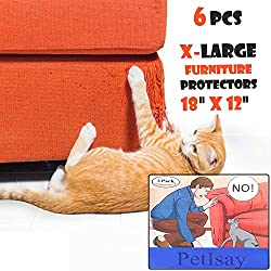 PetIsay XL Protectores antiarañazos para muebles (juego de 6), protege tus muebles de perro/gatos garras, almohadilla disuasoria para arañazos de gato, protector de sofá a prueba de gatos