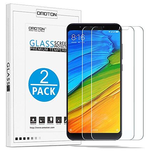 """OMOTON Xiaomi Redmi 5 Plus Protector de Pantalla, Cristal Templado Redmi 5 Plus, 2.5D Borde, Sin Burbujas [2 Unidades] 5.99"""""""