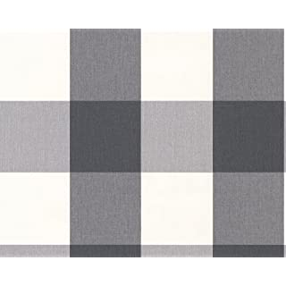 A.S. Creation 206367 Elegance Non-Woven Striped Wallpaper Chequered