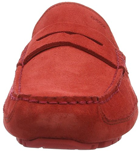 Geox U Melbourne A, Mocassins Homme Rouge (Redc7000)