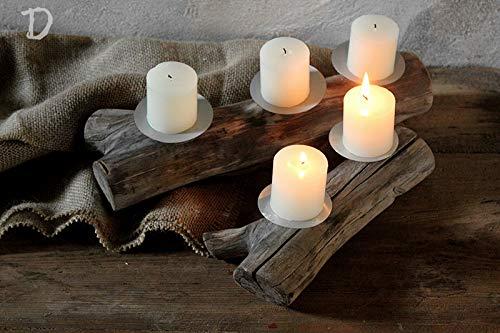 CLEAVE WAVES Handgefertigte Teelichthalter aus Holz, Kreative Retro, Holz Handwerk schmücken Kerzenhalter Stand Hochzeit liefert,DSet