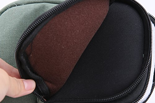 Genda 2Archer Cellulare Piccolo Tempo libero della tela di canapa del pacchetto della vita mini tracolla Borsa Messenger Army Green