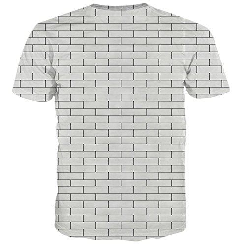 Yonbii Sommer-neuer Hiphop-heißer reizvoller Dame-Mann-Oberseiten-dunkler Blume 3D T-Shirts Mens-seitlicher Reißverschluss ringsum T-7