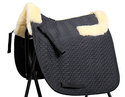 Merauno Sheepskin GP Saddle Pad Full Blanket Dressage Jumping Numnah Saddlecloth & Square Saddle Pads Horse Riding Show… 1