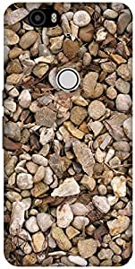 The Racoon Lean printed designer hard back mobile phone case cover for Huawei Nexus 6P. (Rocky Pebb)